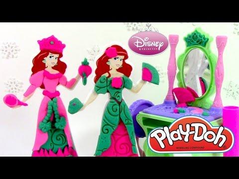 Pâte à modeler Ariel La Petite Sirène - Princesse La coiffeuse Ariel ♥ Play Doh Ariel Royal Vanity