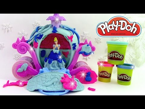 Pâte à modeler Princesse Cendrillon Carrosse magique play doh Cinderella Magical Carriage